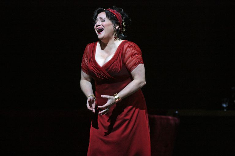 Patricia Racette performs the title role in Puccini's opera, Tosca