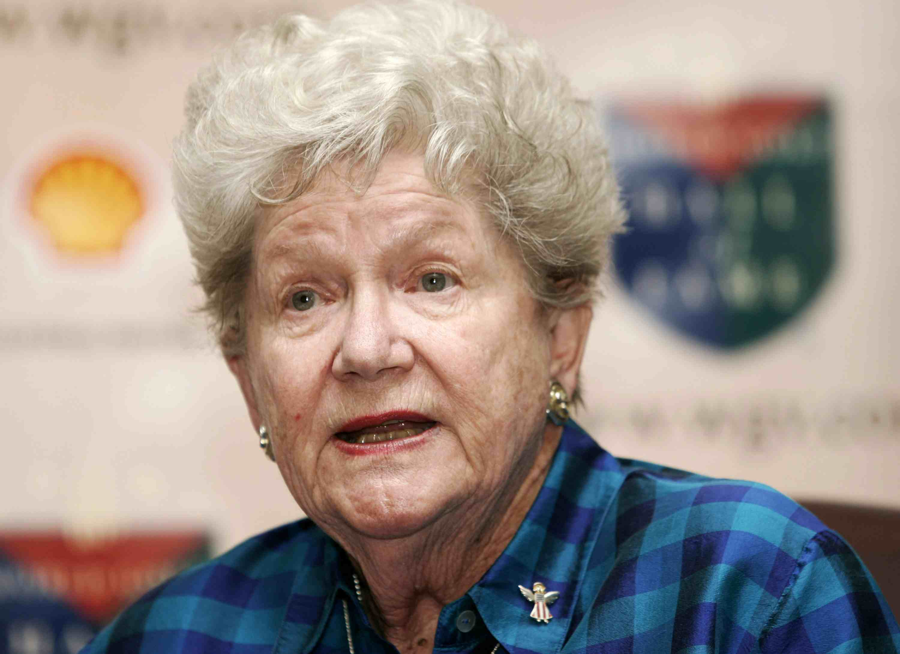 Marilynn Smith speaks to the media prior to the Induction Ceremony at the World Golf Hall of Fame located at the World Golf Village in St. Augustine, Florida on October 30, 2006