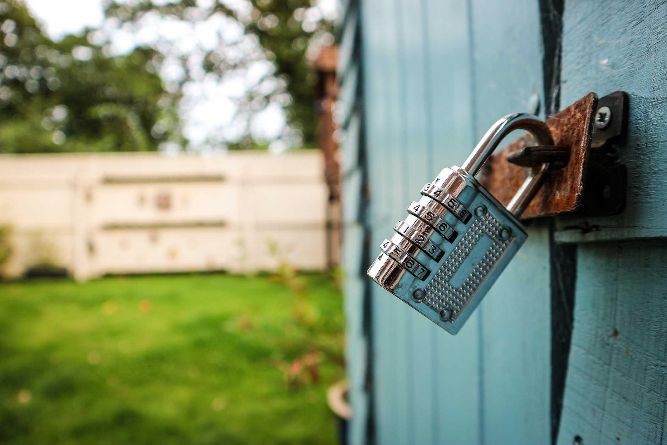 Locked Garden Shed