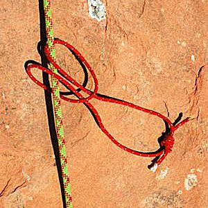 A girth hitch is a basic knot for attaching cord or sling to an object.
