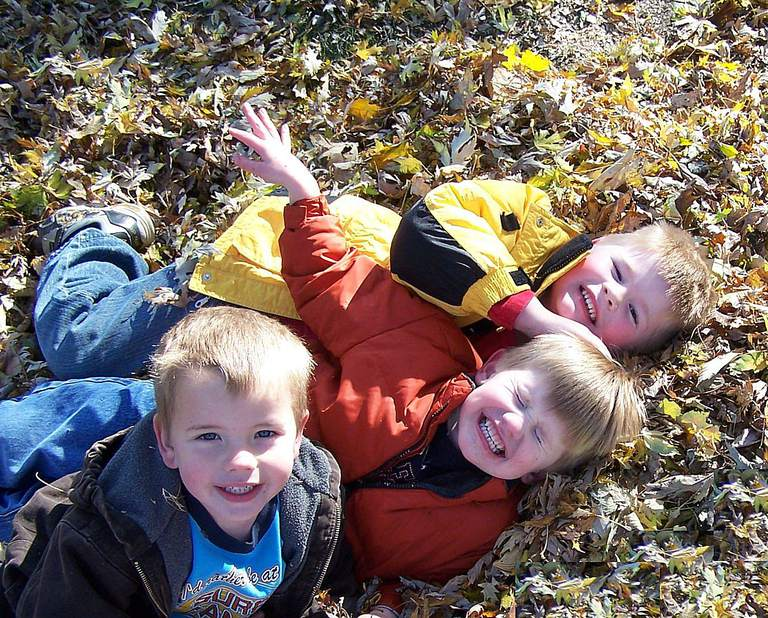 Foster Care Children Find Joy in Simple Activities, Like Playing in Leaves