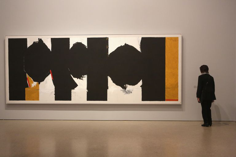 "The painting, ""Elegy to the Spanish Republic, No. 126,"" by Robert Motherwell"