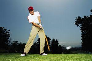 Golfer hitting a high-MOI driver