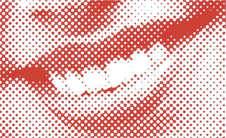 Close up pop art illustration of a mouth