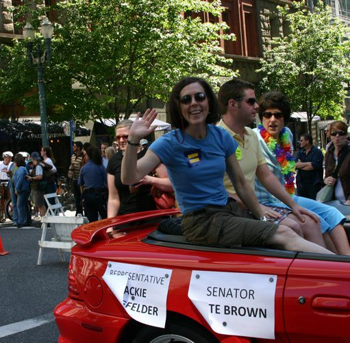 Kate Brown at Portland Pride