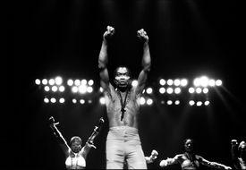 Fela Kuti on stage