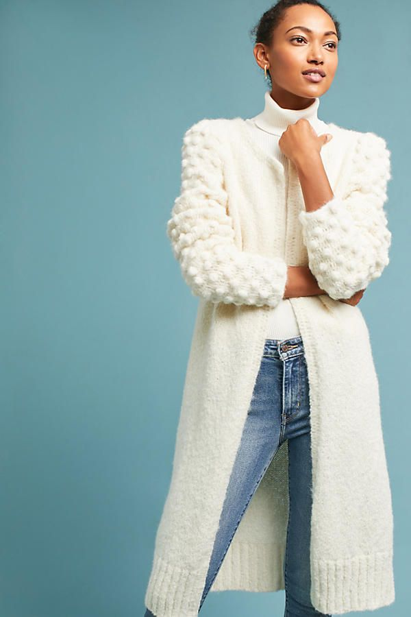 fe0bb6ac5f Anthropologie sweater cardigan. Anthropologie. Winter white never felt so  cozy.