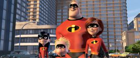 The whole family from The Incredibles