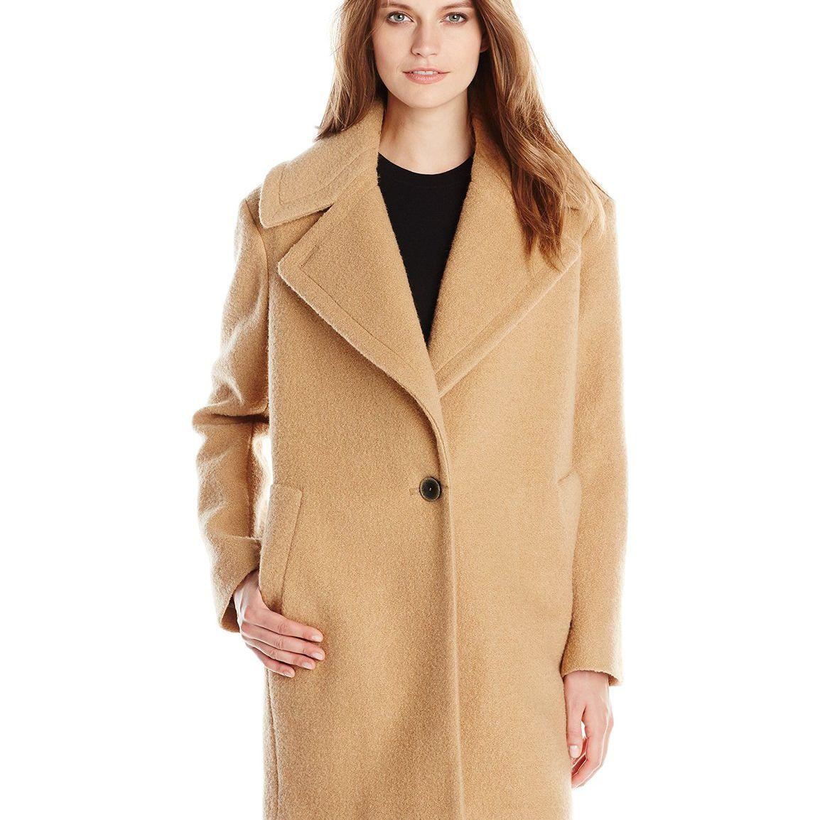 Kensie Women's Wool-Blend Cocoon Coat