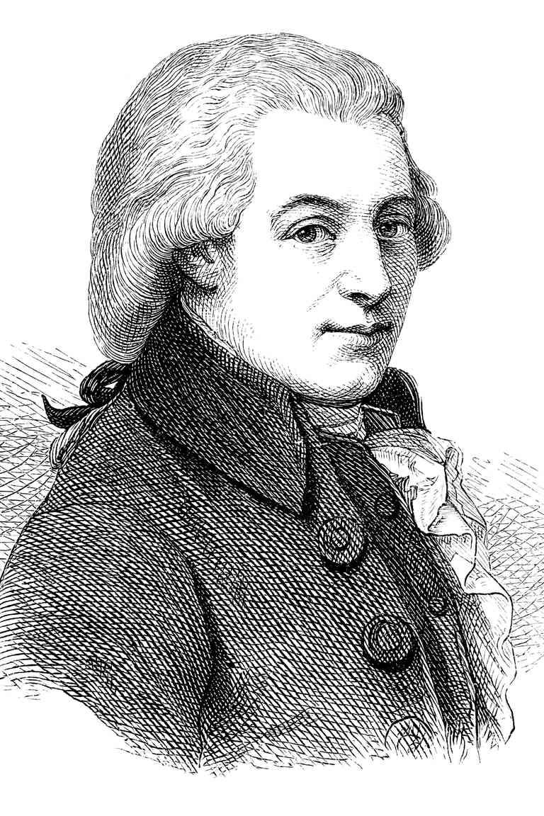 1870 Engraving of Wolfgang Amadeus Mozart