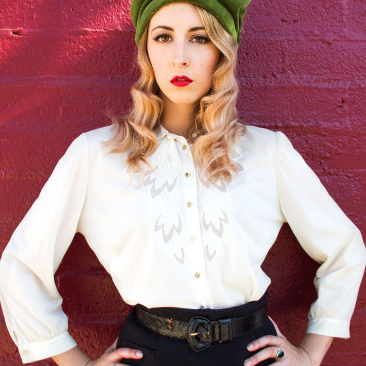 The Feathered Head vintage hat