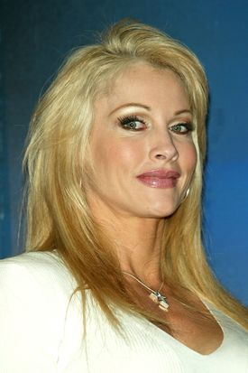 Wrestler Sable attends a press conference to promote Wrestlemania XX at Planet Hollywood March 11, 2004.