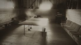 Table Tennis In Illuminated Room
