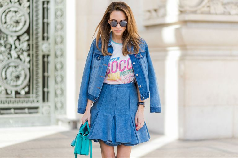 Street style in double denim