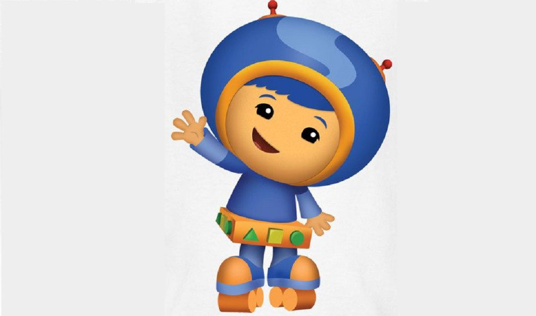Geo from Team Umizoomi on an off-white background.