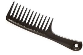 A wide-tooth comb is essential for black hair care.