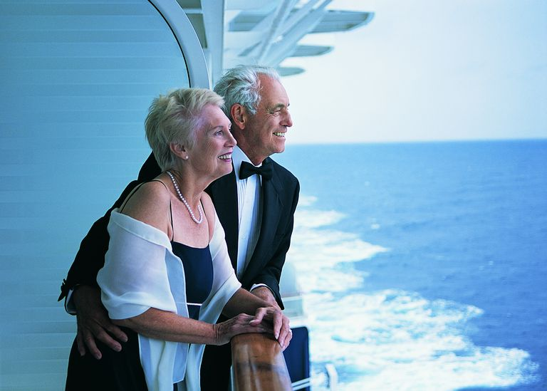 Grandparents on a cruise ship