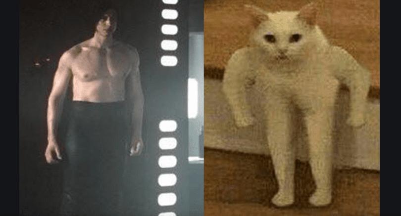 Kylo ren's pants ben swolo meme