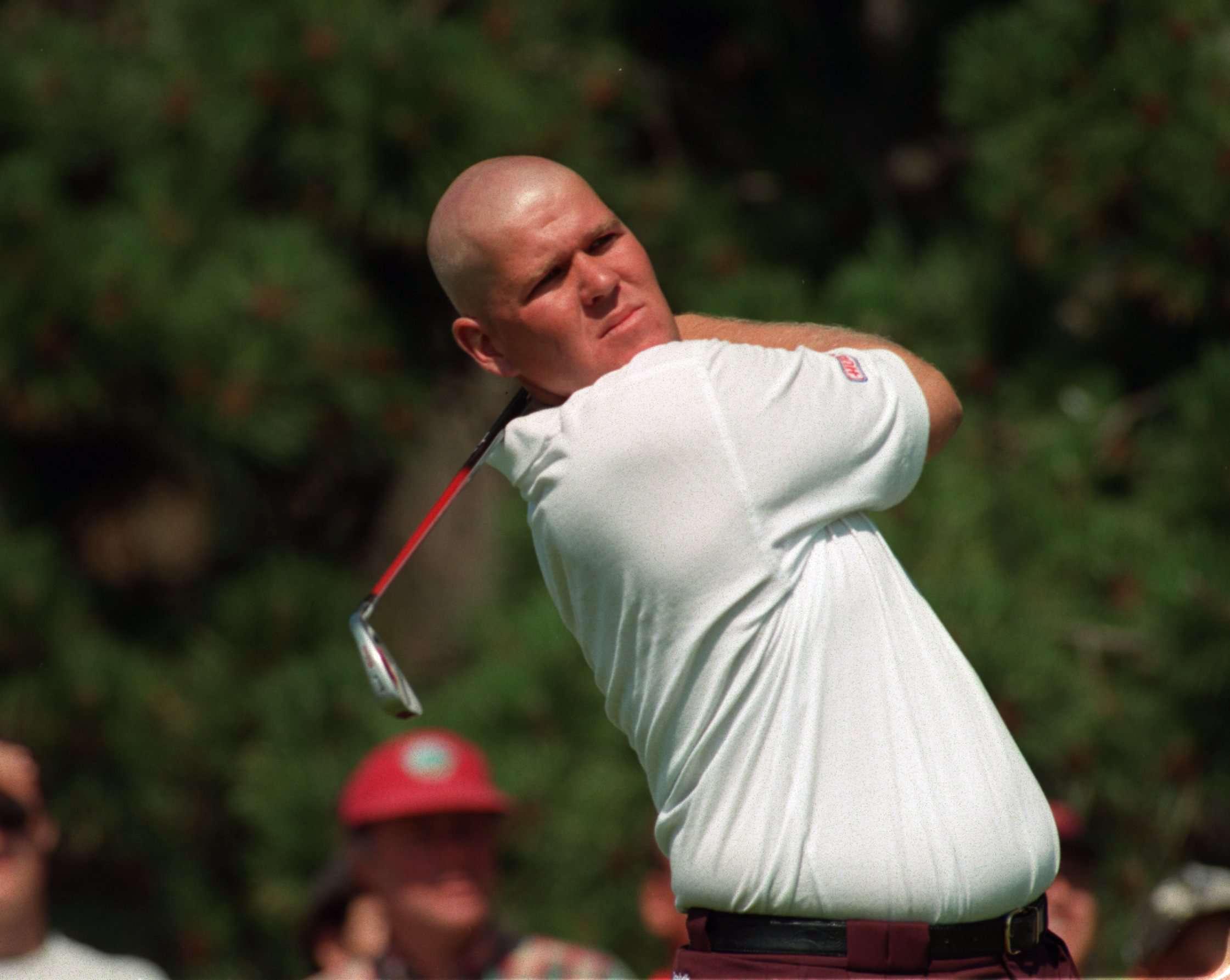 John Daly, bald, in the 1995 Scandinavian Masters.
