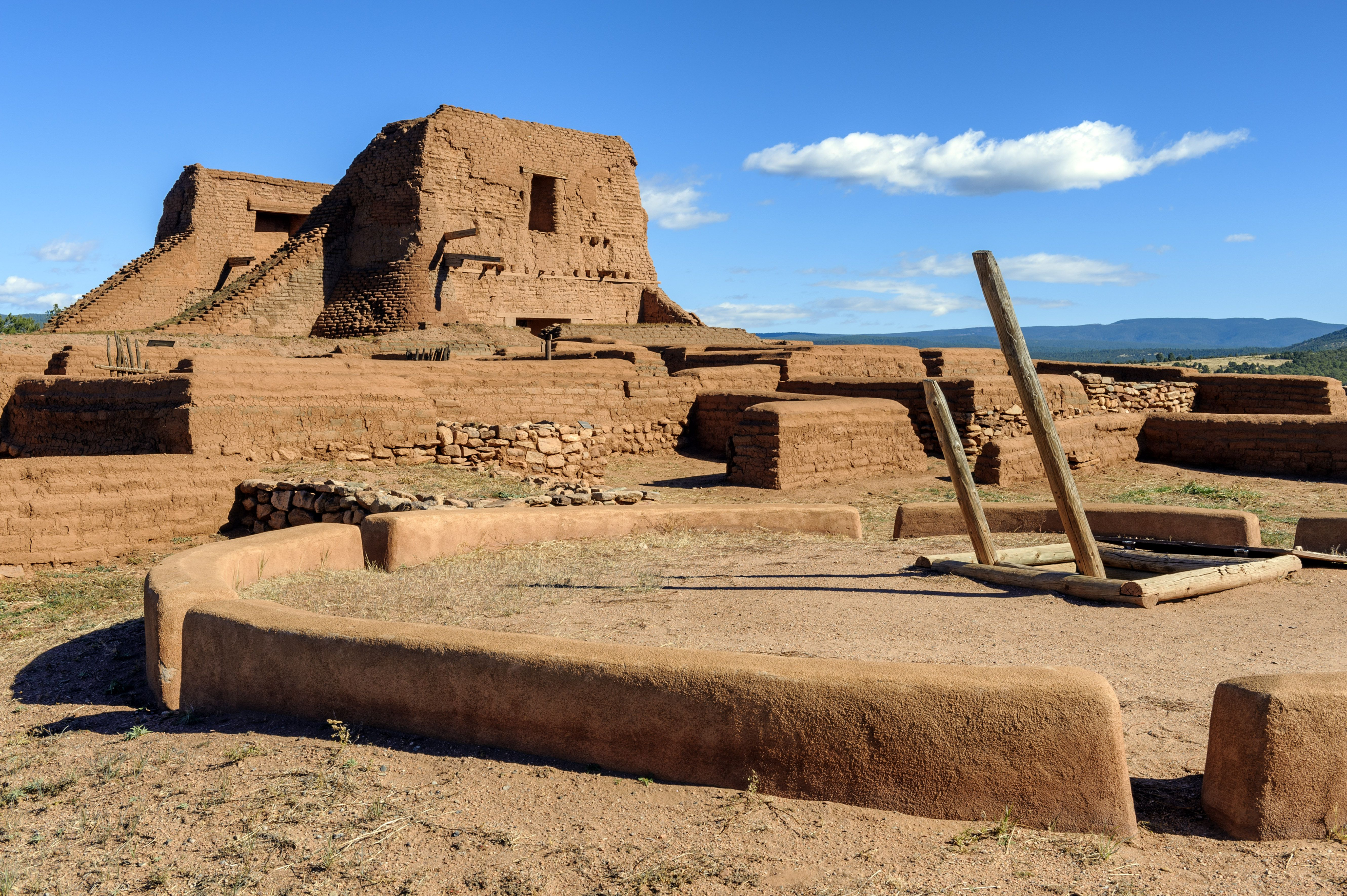 USA, New Mexico, Ruins in Pecos National Historical Park