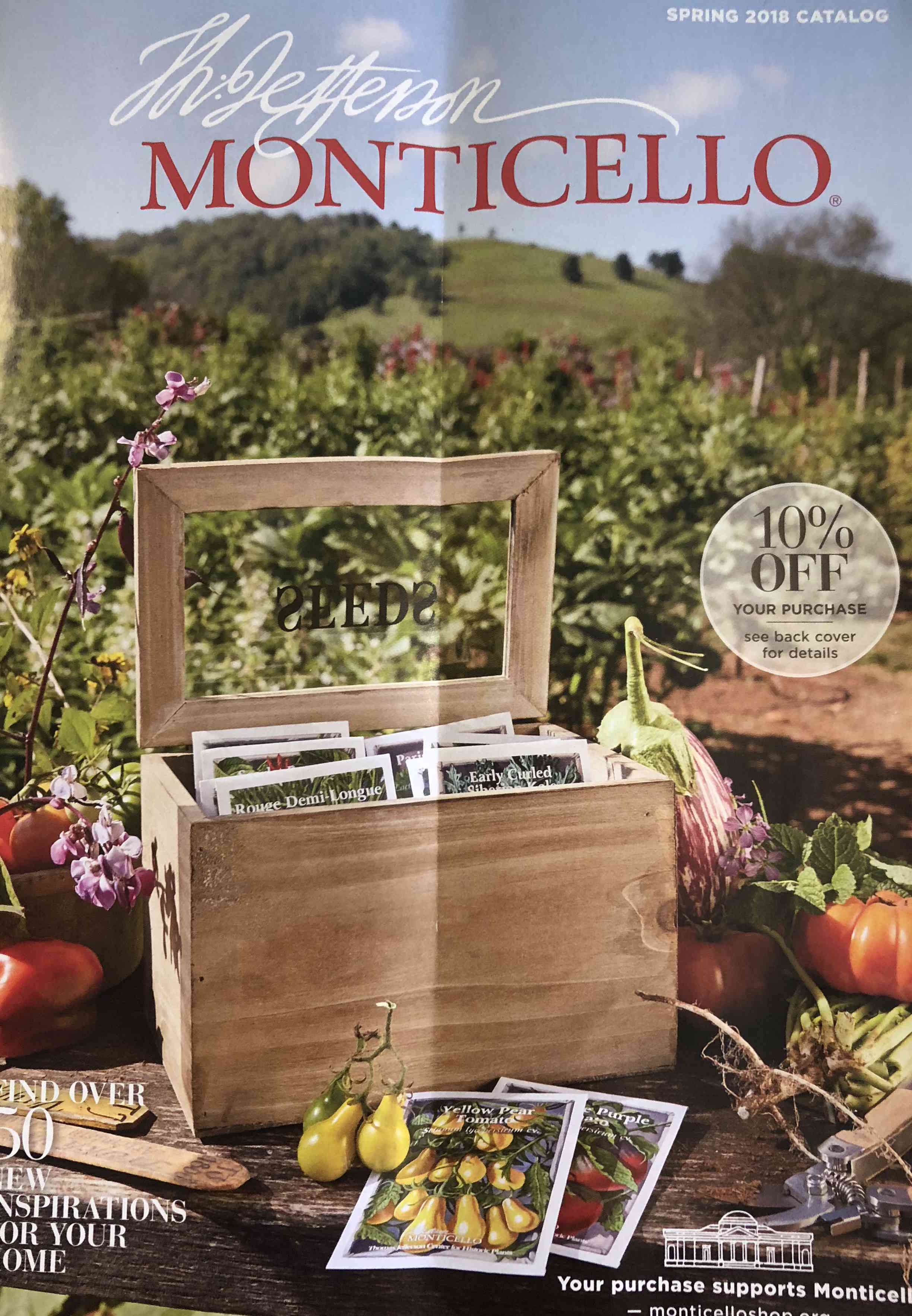 The Spring 2018 Monticello seed catalog