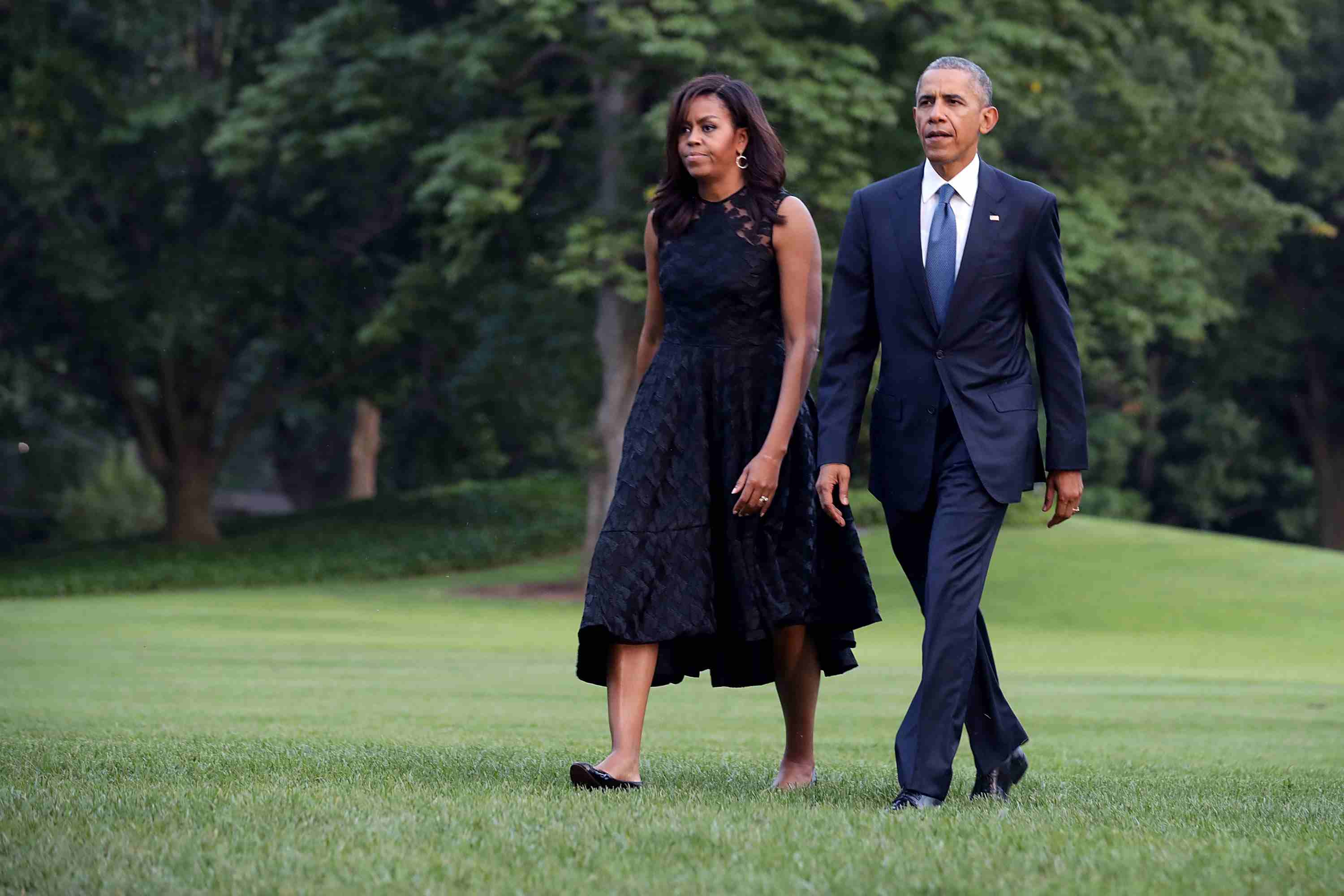 President And Mrs. Obama Return To The White House
