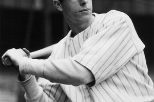 Portrait of New York Yankees outfielder and slugger Joe DiMaggio