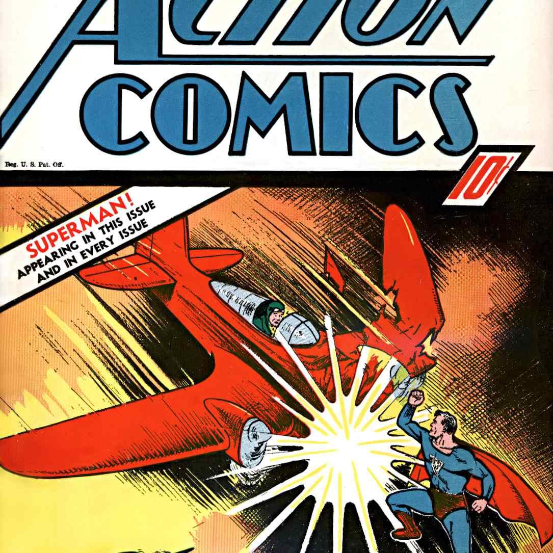 Superman fights a plane