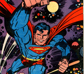 Superman pin-up by Jack Kirby