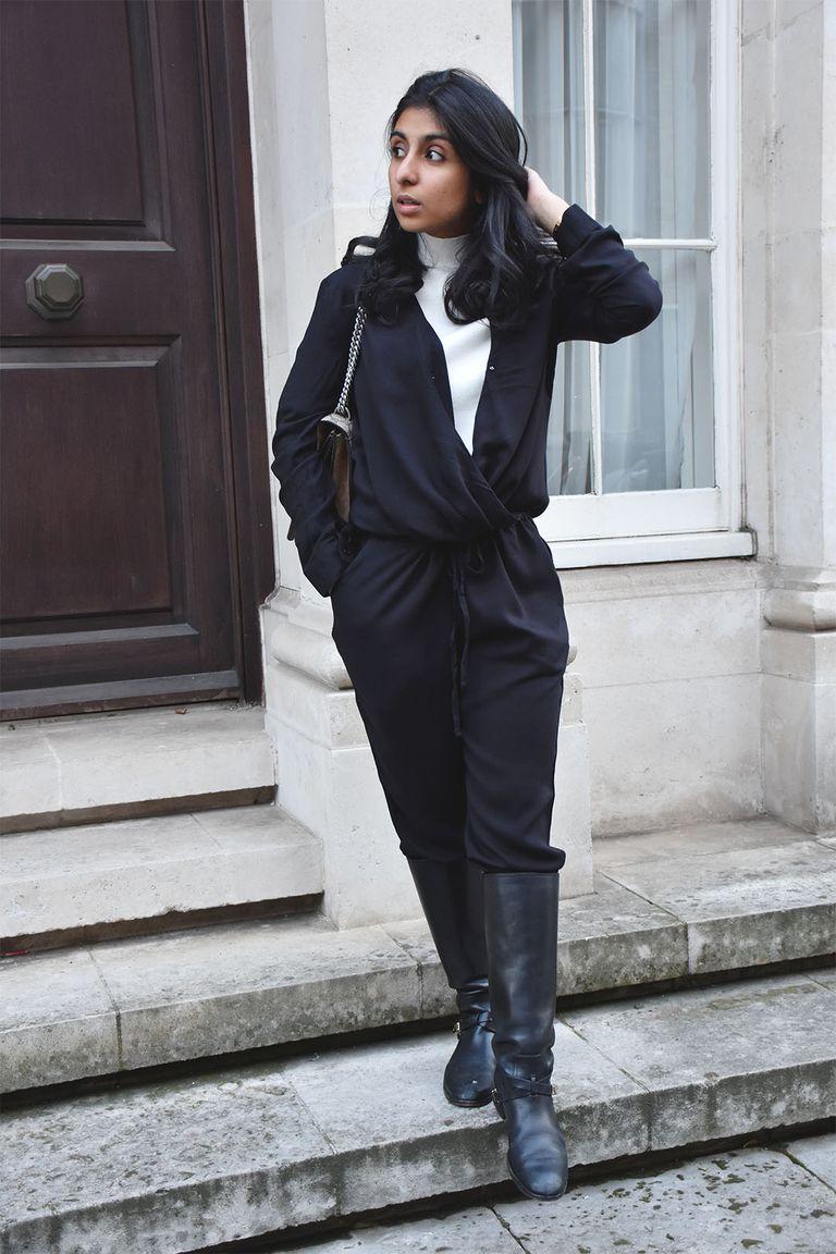 654e43f2e Black Formal Jumpsuit Outfit | Saddha