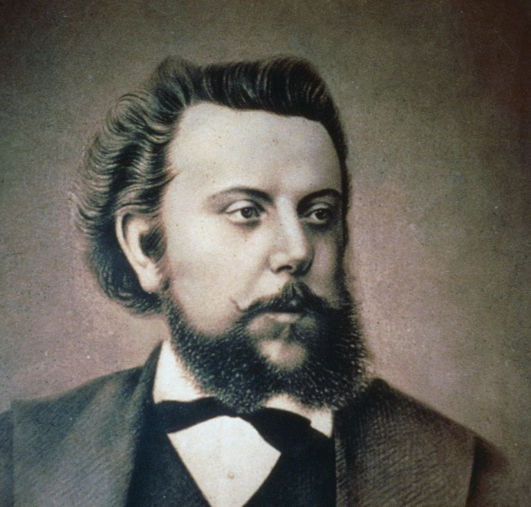 Portrait of the Russian composer Modest Mussorgsky (Toropets, 1839- Saint Petersburg, 1881), by Ilya Repin (1844-1930)