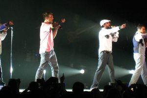 Backstreet Boys in concert.