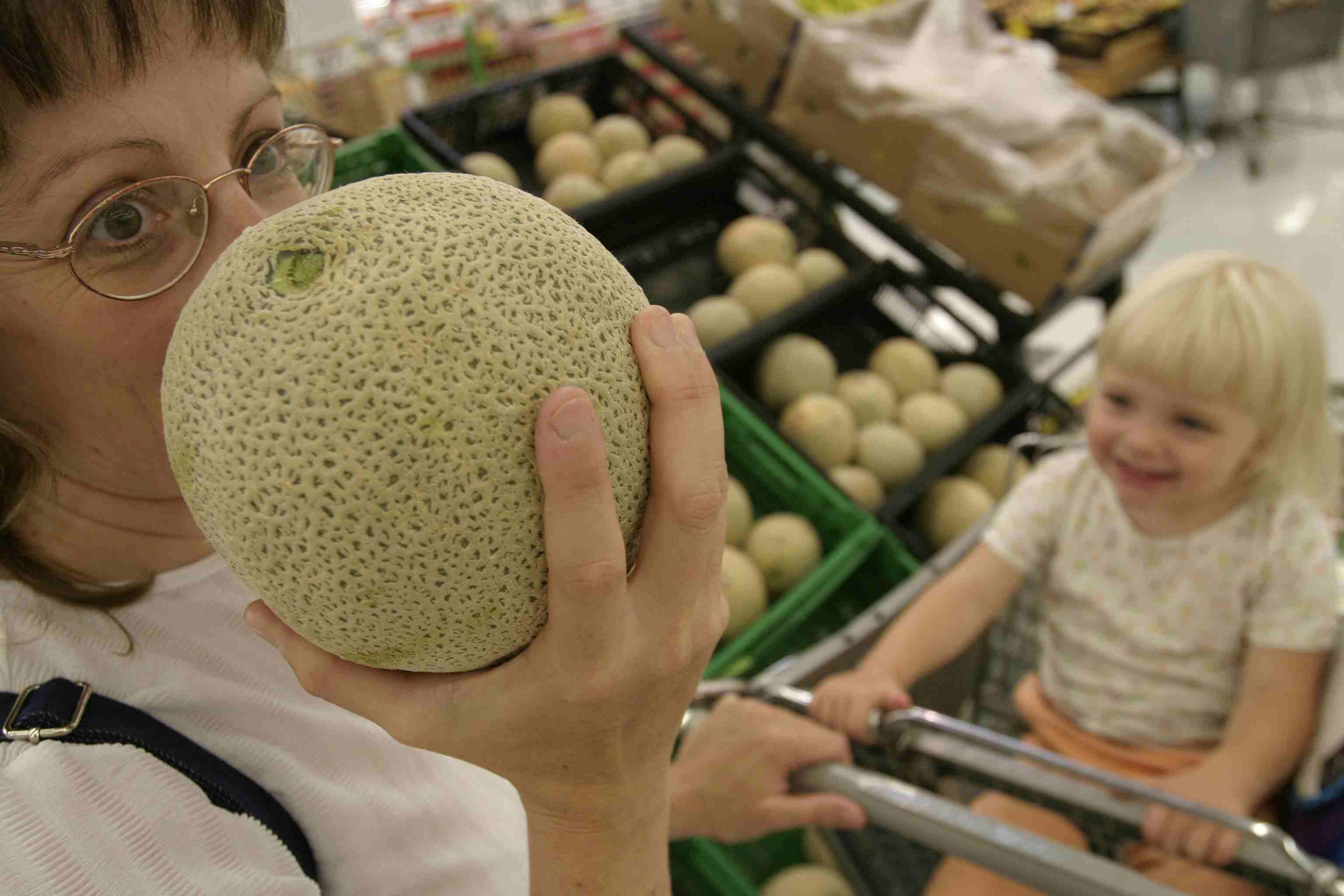 Walmart Shopper Buying Produce