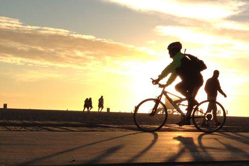 Biking the beach path