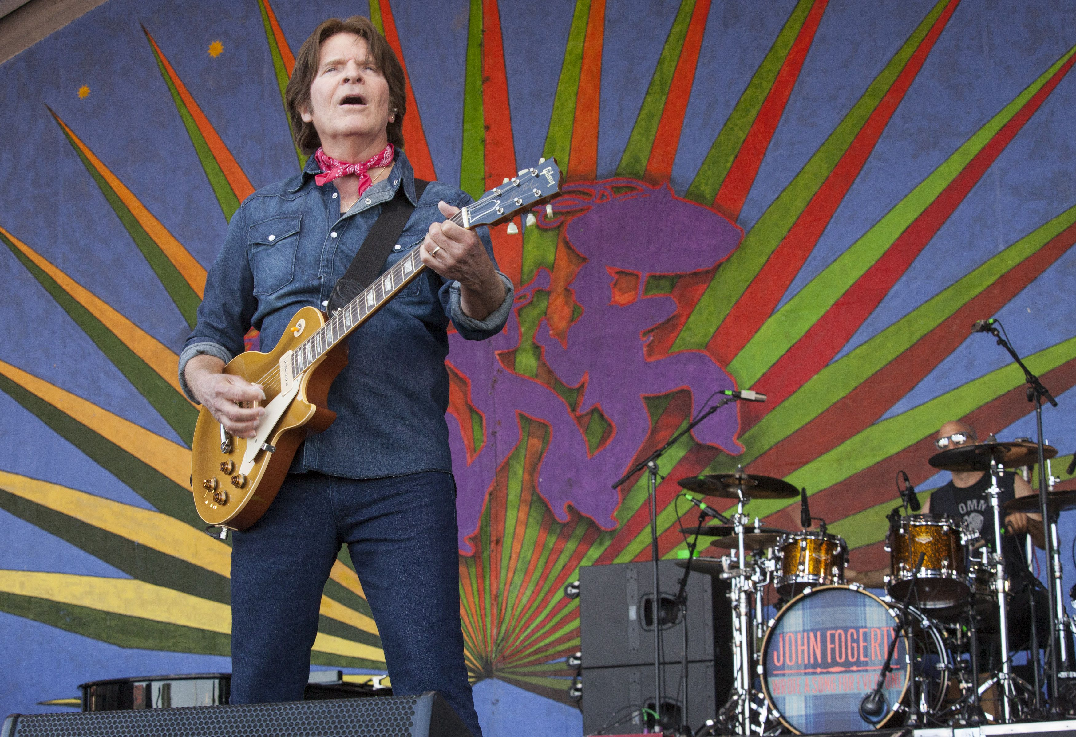 2014 New Orleans Jazz & Heritage Festival - Day 7 NEW ORLEANS, LA - MAY 04: John Fogerty performs during the 2014 New Orleans Jazz & Heritage Festival at Fair Grounds Race Course on May 4, 2014 in New Orleans, Louisiana