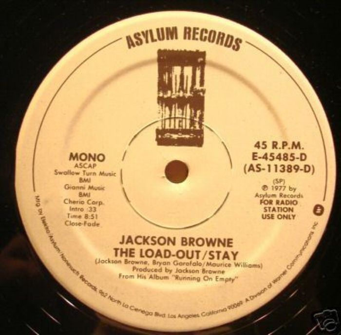 Jackson Browne The Load-Out Stay