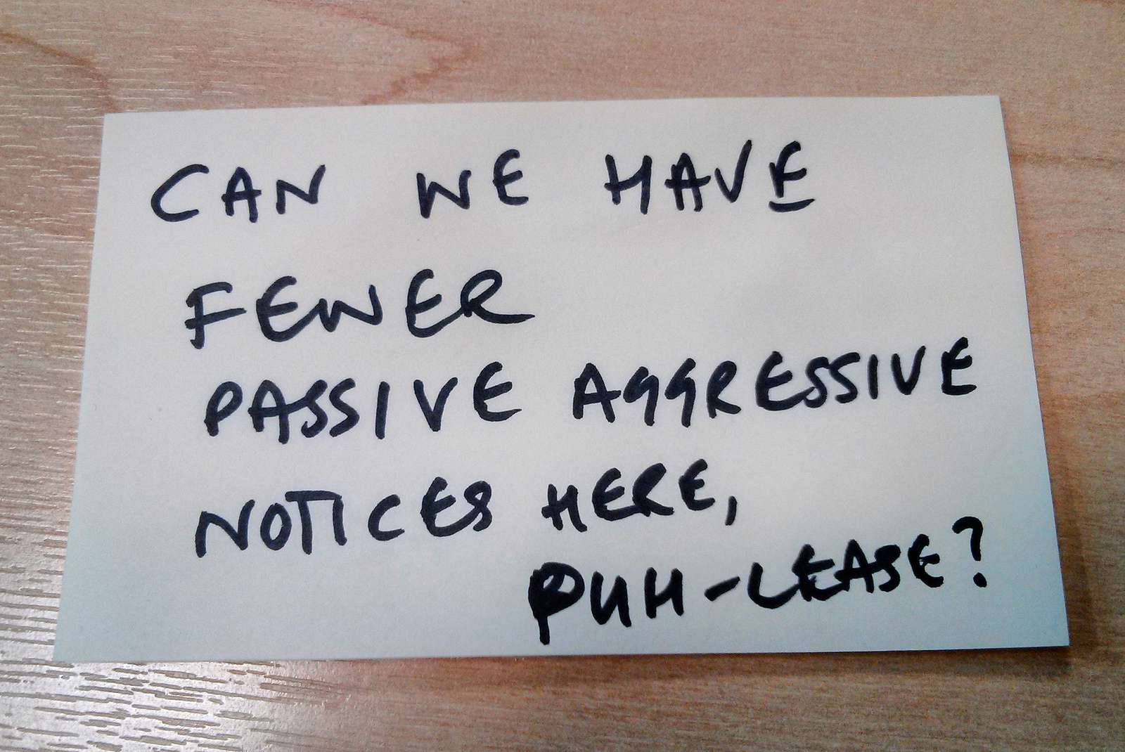 20 Funny and Snarky Passive Aggressive Office Notes