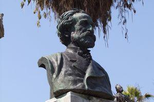 A bust of Giuseppe Verdi