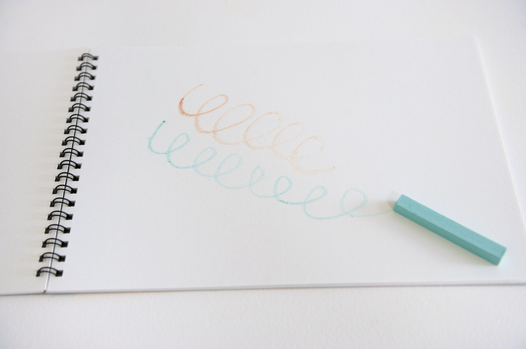 Pastel with sketchbook