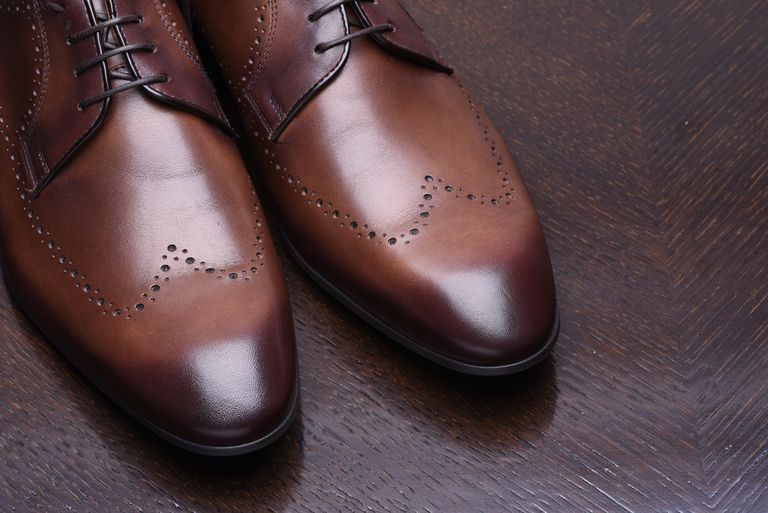 Stylish brown man's shoes