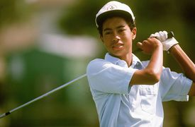 A young Tiger Woods