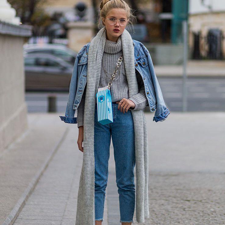 Street style winter jeans