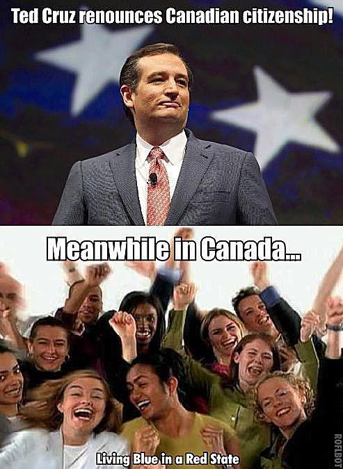Ted Cruz Renounces Canadian Citizenship