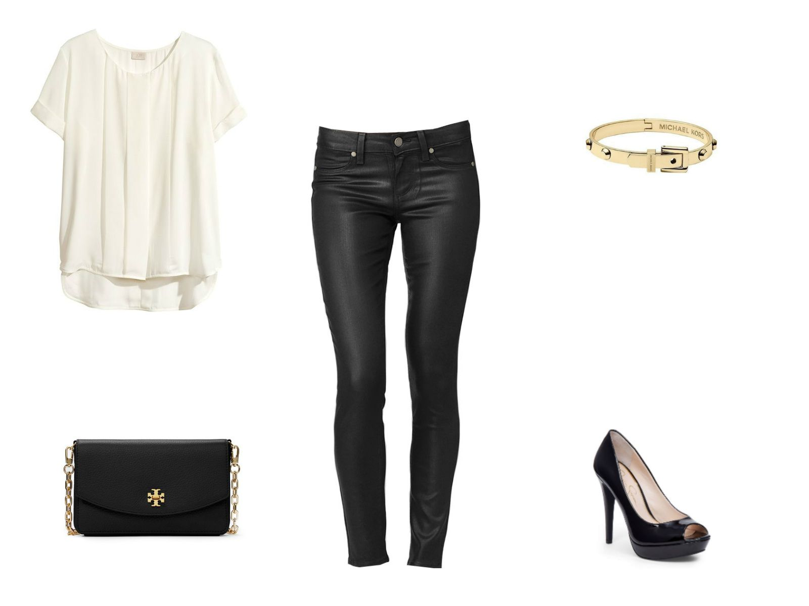 Winter date or party outfit with black jeans