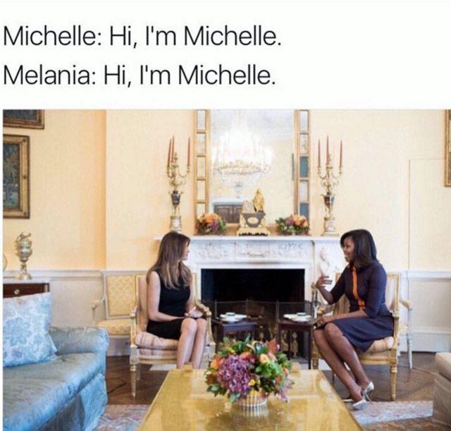 Melania - Trump meme