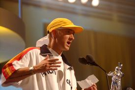 Eminem during 2002 MTV Video Music Awards - Show at Radio City Music Hall in New York City