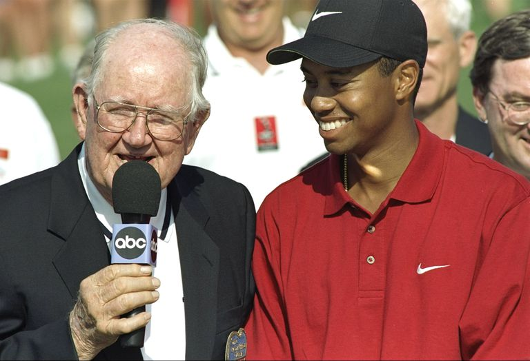 Byron Nelson and Tiger Woods in 1997