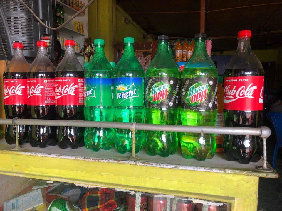 knock off soda bottles