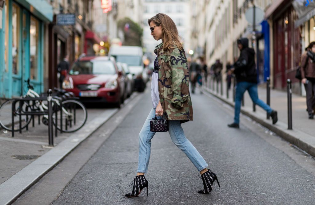 Street style jeans and ankle boots