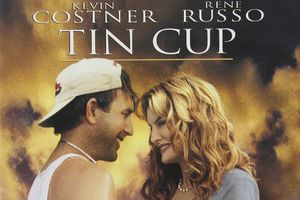 Movie poster for Tin Cup, in which Kevin Costner's character used the phrase 'time to let the big dog eat.'